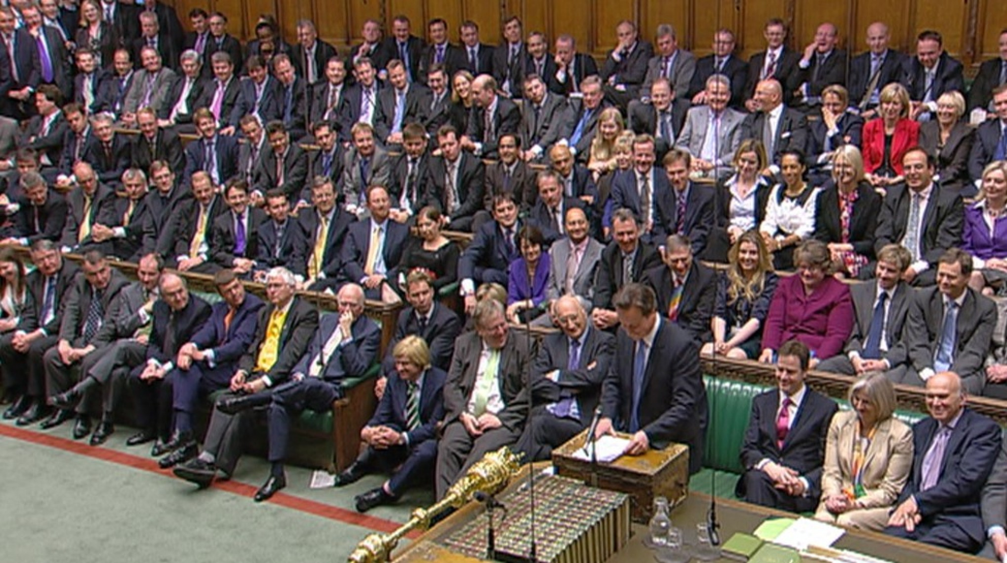 The wonderfully diverse UK parliament in session.