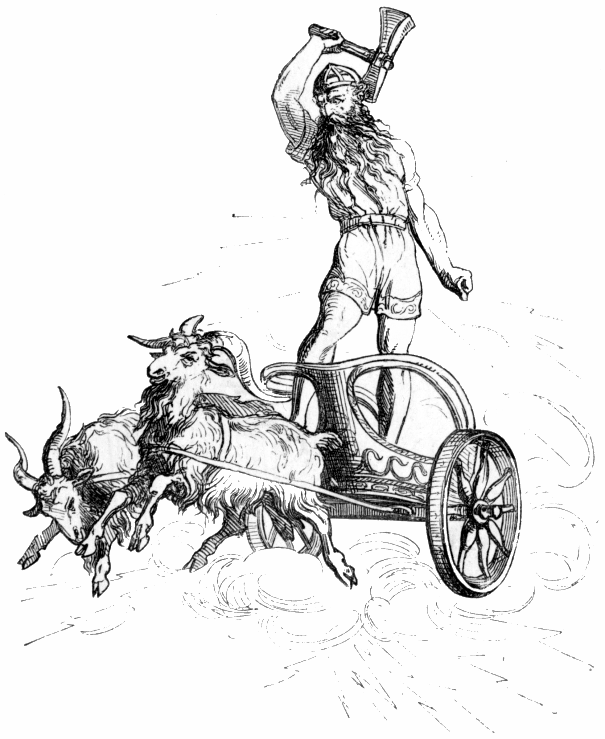 Thor's chariot being pulled by cosmic goats