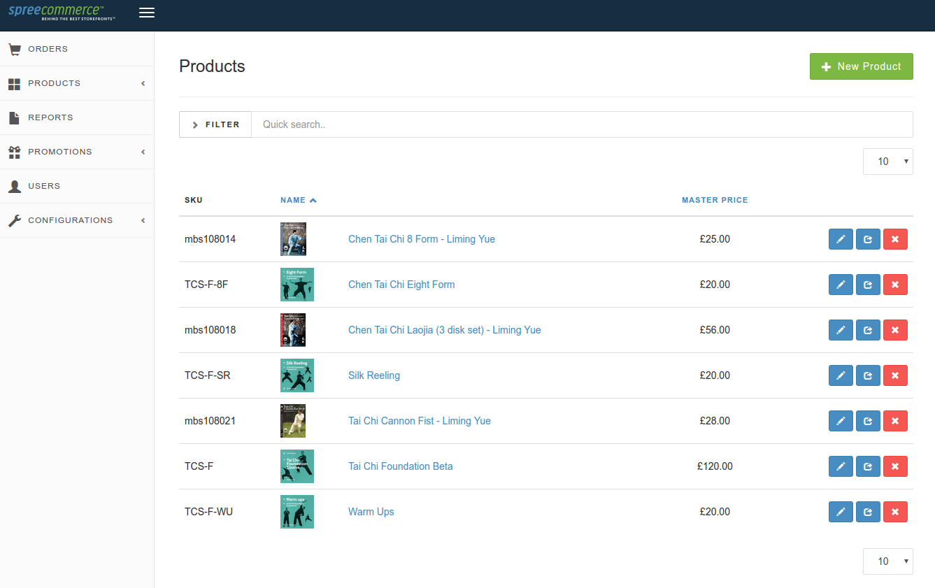 Store interface